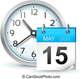 harmonogram, wektor, biuro, ilustracja, ikona