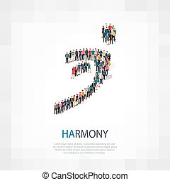 harmony people sign 3d