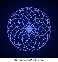 harmony., symbol, heilig, geometry.