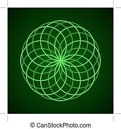 harmony., symbole, sacré, geometry.