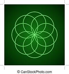 harmony., symbool, heilig, geometry.