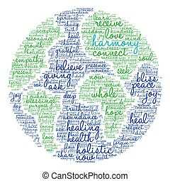 Harmony Word Cloud - Harmony word cloud on a white...