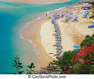 harn, phuket, /, tailandia, nay, praia