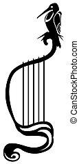 Harp Bird Symbol