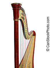 Detail of a professional harp