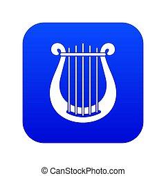Harp icon digital blue