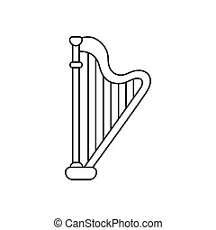 Harp icon, outline style