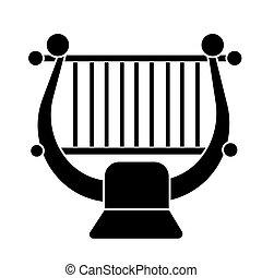 harp - string music classical icon, vector illustration,...