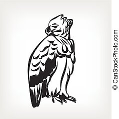 Harpy vector black icon logo illustration