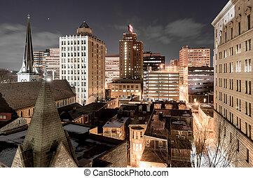 The urban landscape of Harrisburg, Pennsylvania. Harrisburg, Pennsylvania, USA; February 17, 2016