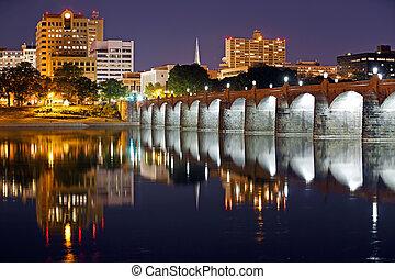 Harrisburg Pennsylvania at Night