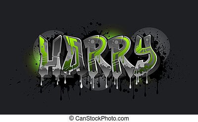 Harry in Graffiti Art