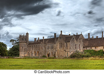 Medieval 15th century Lacock Abbey, home of Fox Talbot and recent Harry Potter film location