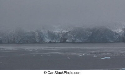 Harsh glaciers of high Arctic latitudes. ice fabric, icefall...
