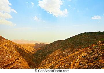 Mountainous - Harsh Mountainous Terrain in the West Bank,...