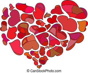 hart, abstract, rood