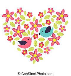 hart, bloem
