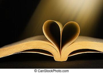 hart, boek, gevormd