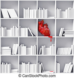 hart, bookshelves