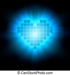 hart, concept., illustratie, energie, vector, gezondheid