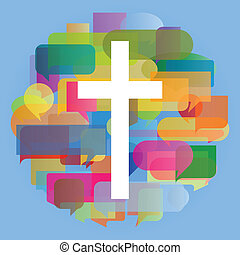 hart, concept, poster, abstract, kruis, illustratie,...
