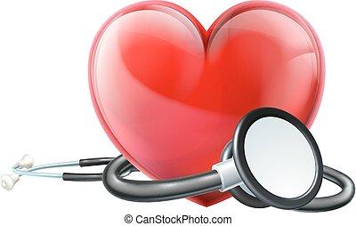 hart, concept, stethoscope