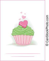 hart, cupcake