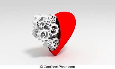 hart, en, de wielen van het toestel, lus
