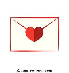 hart, enveloppe, gesloten