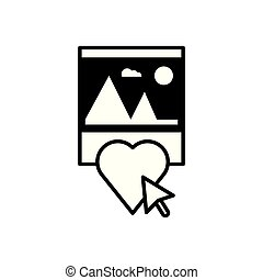 hart, formaat, bestand, afbeelding