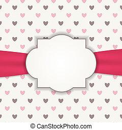 hart, frame, achtergrond, illustratie