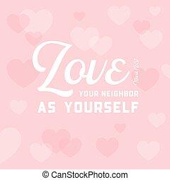 hart, gebruiken, bijbel, christen, buur, noteren, of, ...