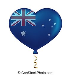 hart gedaante, australië vlag
