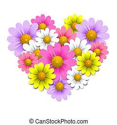 hart gedaante, bloemen