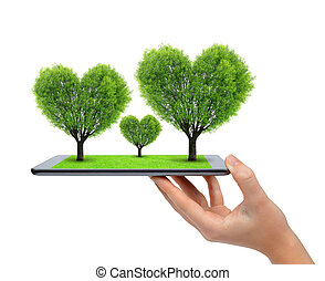hart gedaante, bomen