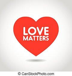 hart gedaante, liefde, rood, van belang zijn