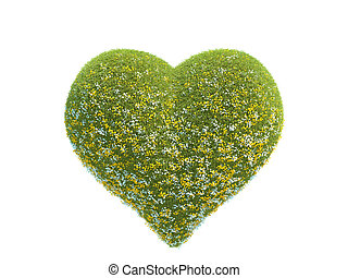 hart, gemaakt, gras