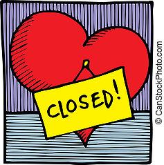 hart, gesloten