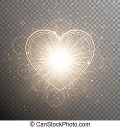 hart, goud, achtergrond