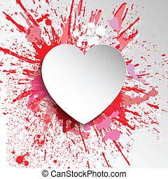 hart, grunge, achtergrond