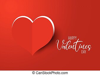 hart, knippen, valentine, achtergrond, uitgaansdag