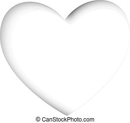 hart, knippen, valentines, achtergrond, witte , kaart, uit