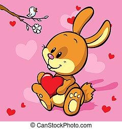 hart, konijntje