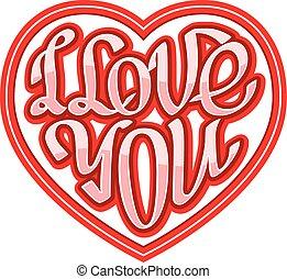 hart, kort, liefde, vorm, ingeschreven, frase, u