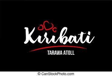 hart, land, zwart rood, achtergrond, tarawa, atol, zijn,...