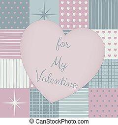 hart, lapwerk, valentines, middle., dag, sensueel