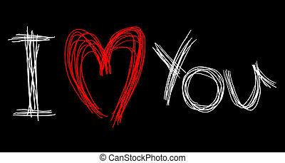 hart, liefde, kaart