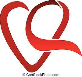 hart, liefde, lint