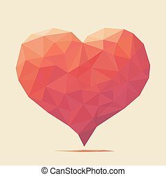 hart, liefde, rood