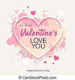 hart, liefde, valentine's dag, vorm, boodschap, u, vrolijke